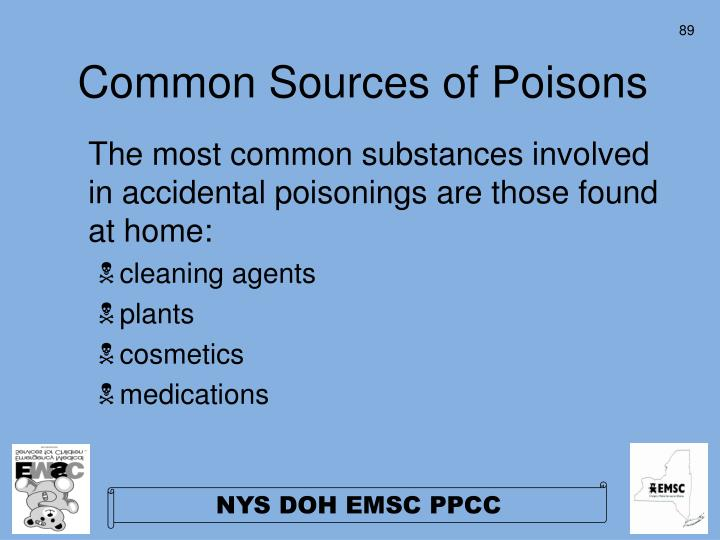 Common Sources of Poisons