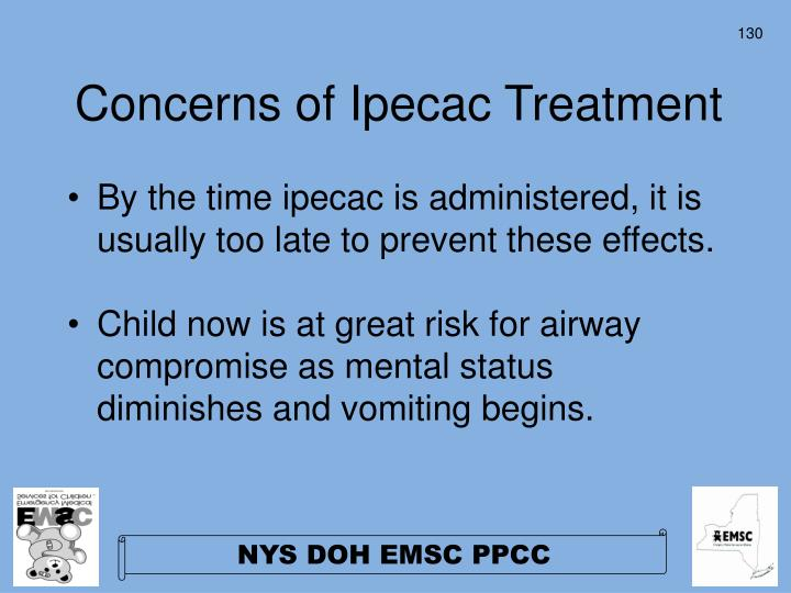 Concerns of Ipecac Treatment