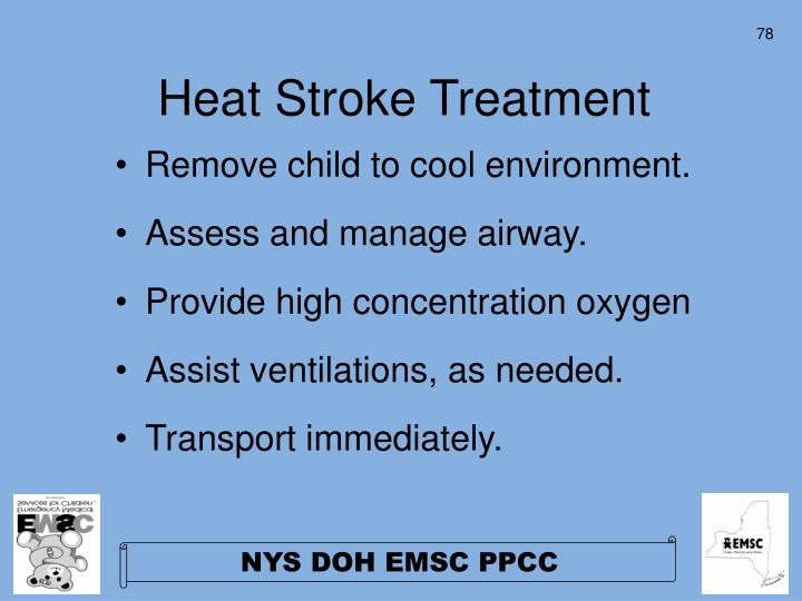Heat Stroke Treatment