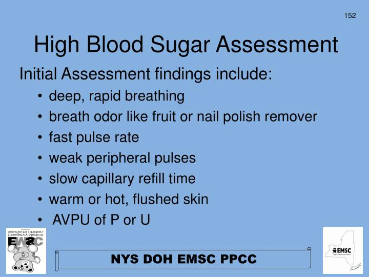 High Blood Sugar Assessment