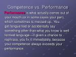 competence vs performance44