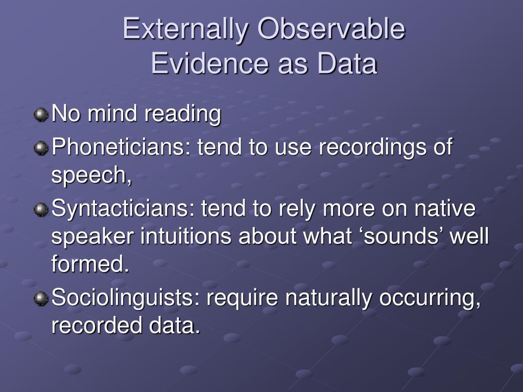 Externally Observable