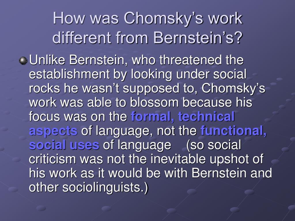 How was Chomsky's work
