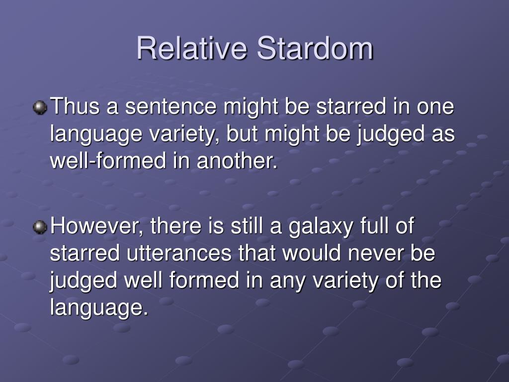 Relative Stardom