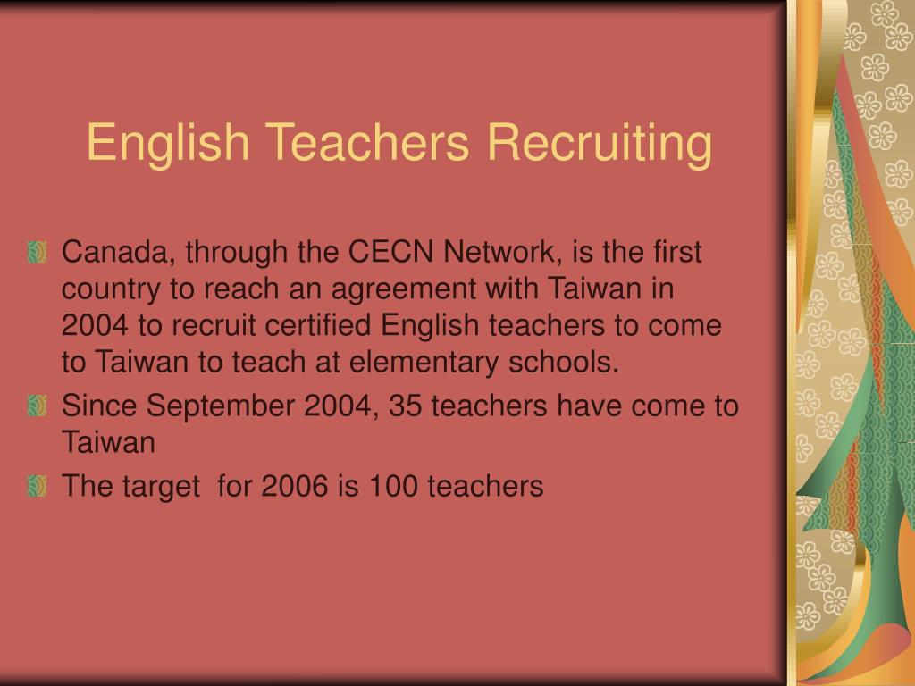 English Teachers Recruiting