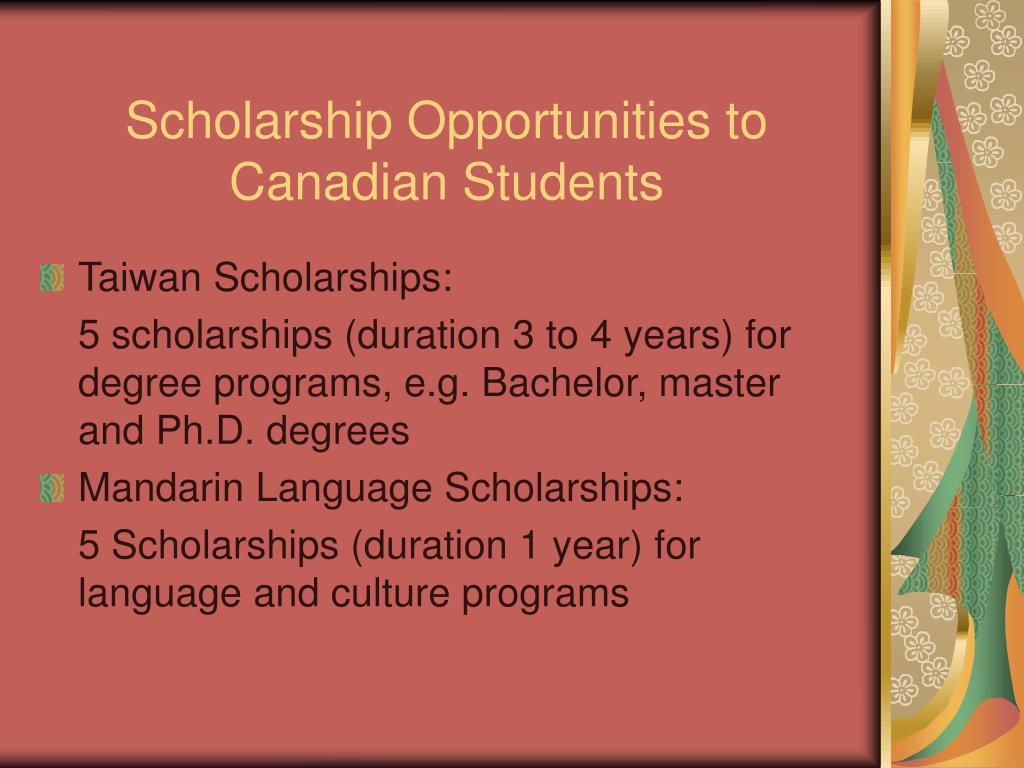 Scholarship Opportunities to Canadian Students