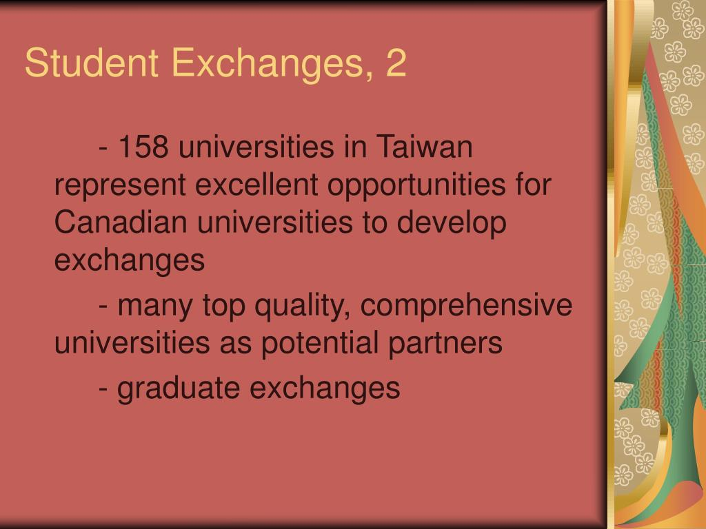 Student Exchanges, 2