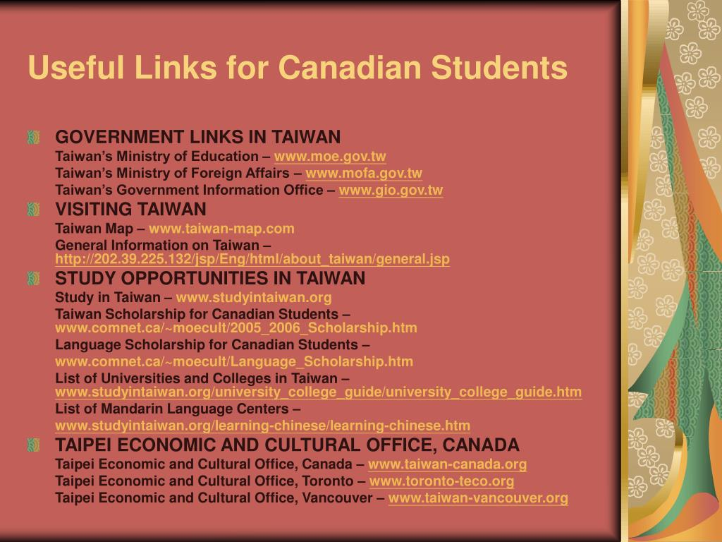 Useful Links for Canadian Students