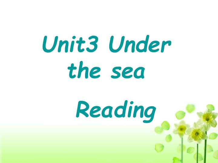 Unit3 Under the sea
