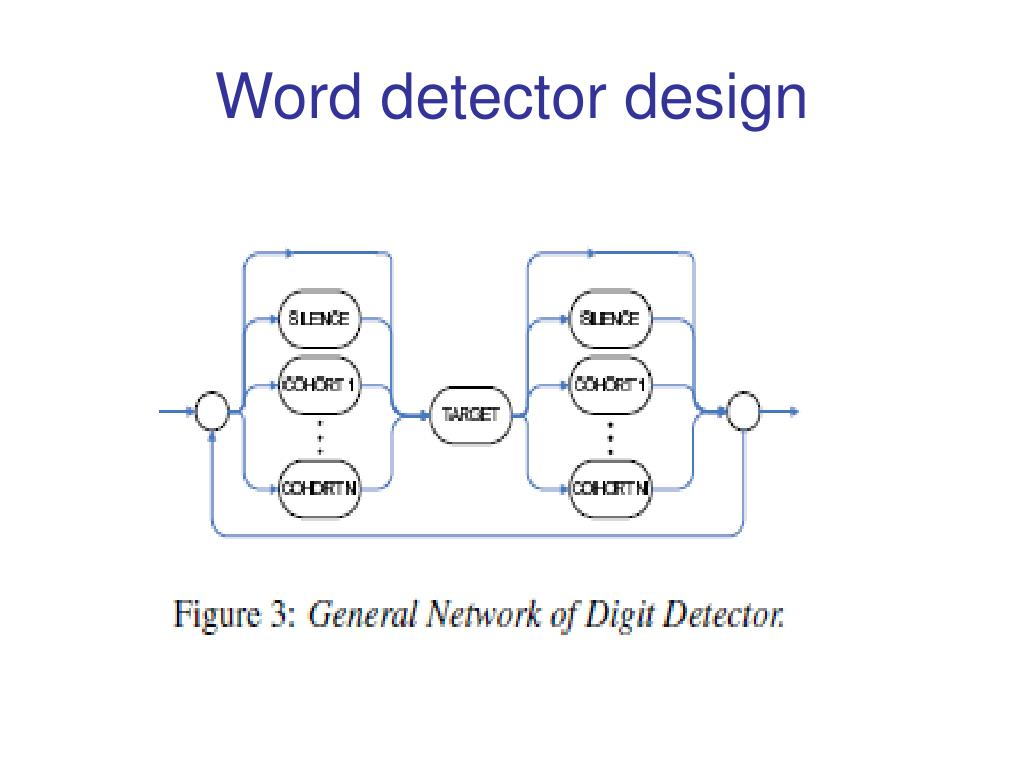 Word detector design