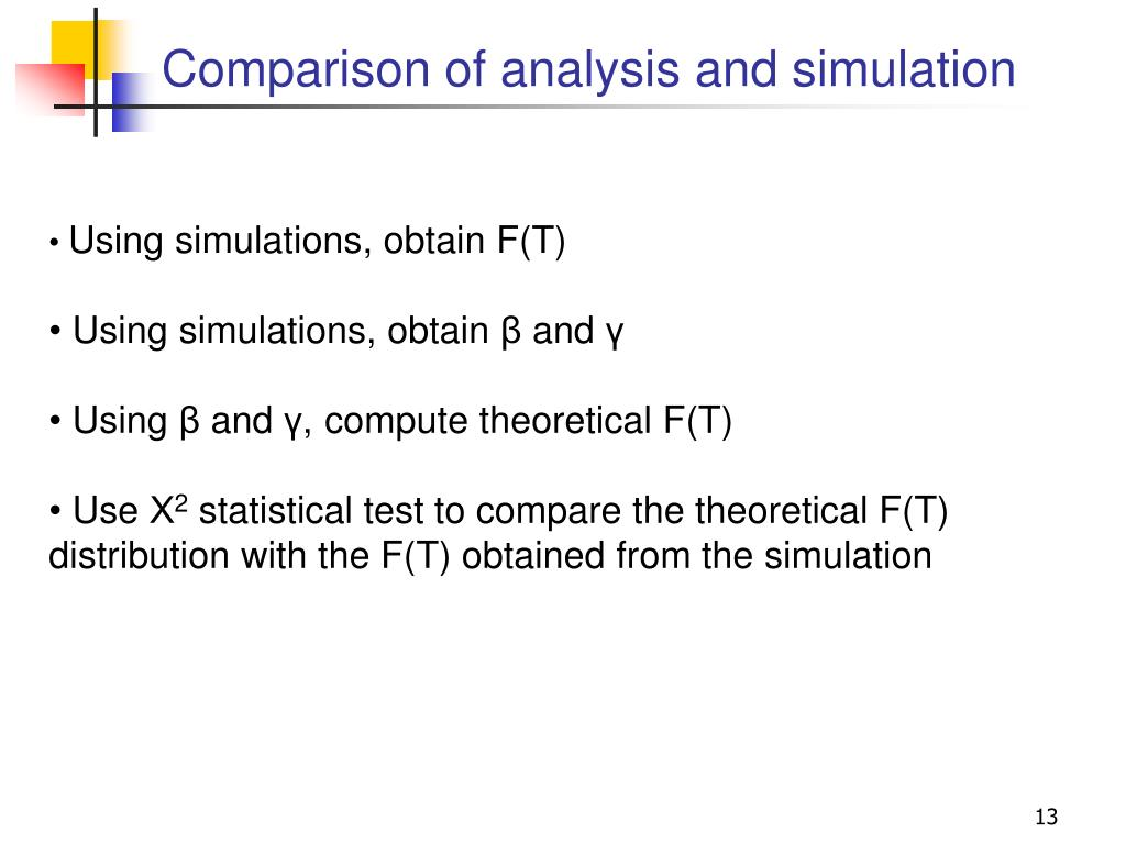 Comparison of analysis and simulation