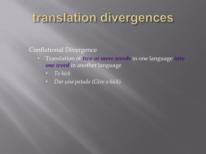 translation divergences