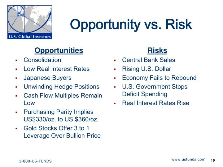 Opportunity vs. Risk