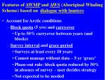 features of awmp and aws aboriginal whaling scheme based on dialogue with hunters