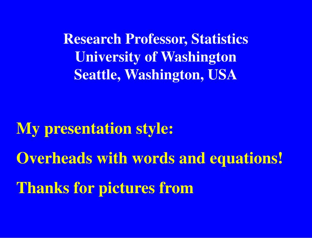 Research Professor, Statistics
