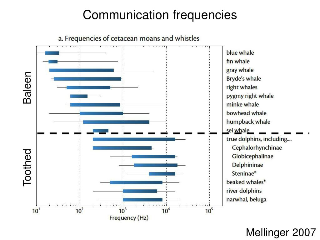Communication frequencies