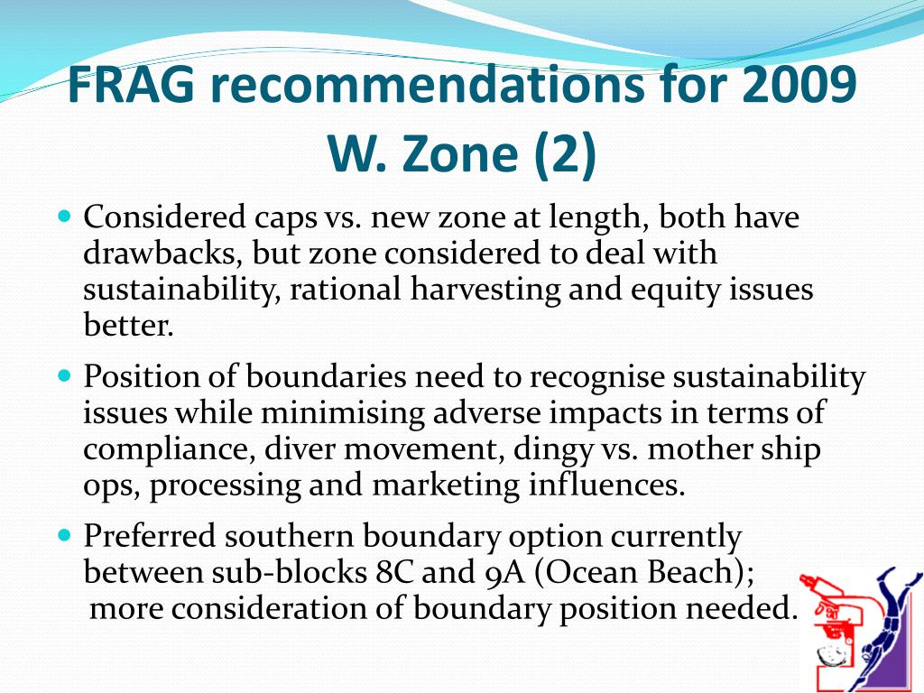 FRAG recommendations for 2009 W. Zone (2)