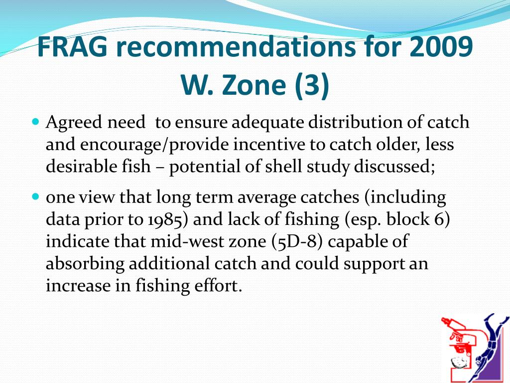 FRAG recommendations for 2009 W. Zone (3)