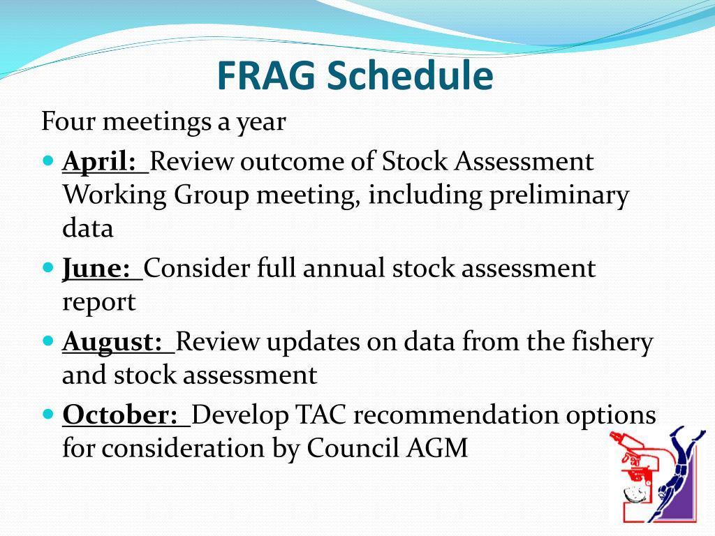 FRAG Schedule