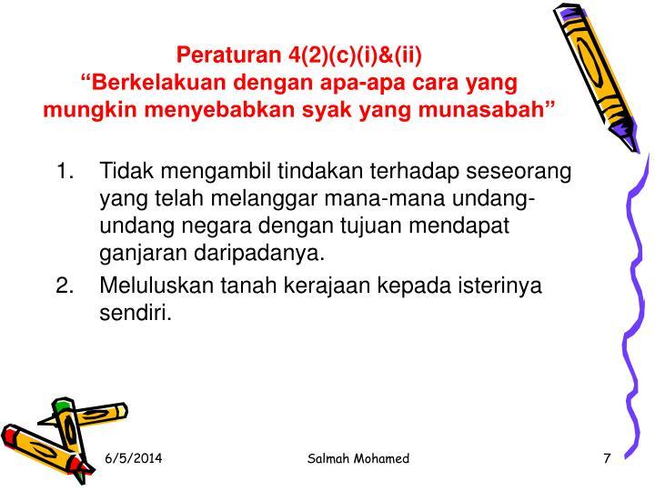Peraturan 4(2)(c)(i)&(ii)