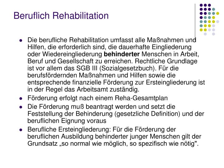 Beruflich Rehabilitation