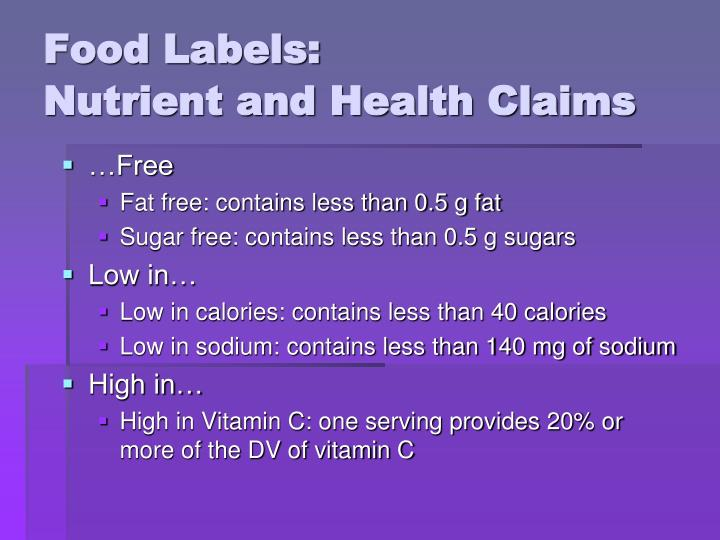 Food Labels: