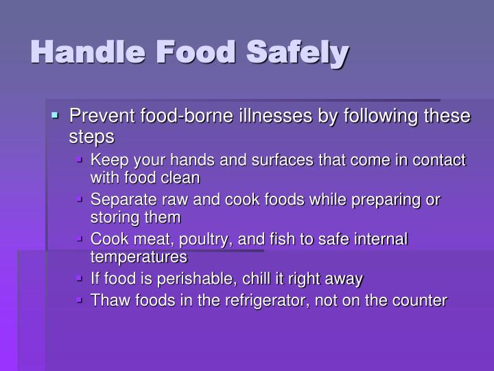 Handle Food Safely