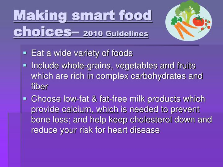 Making smart food choices–