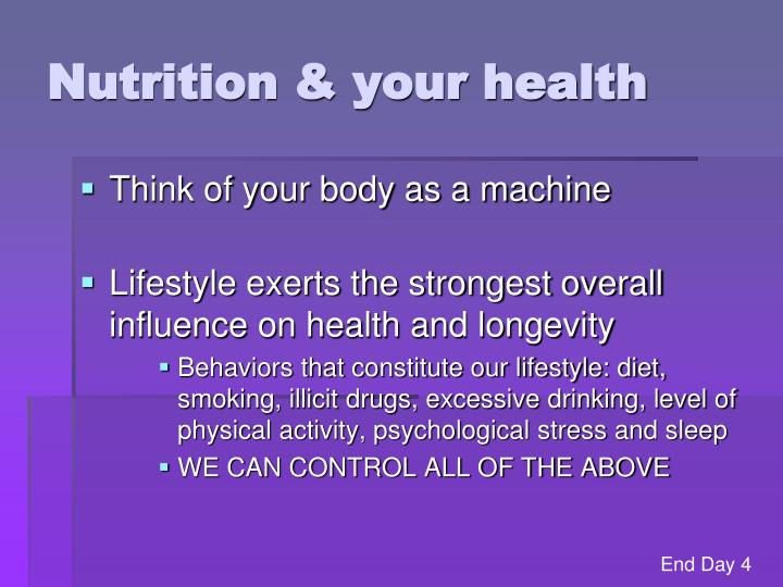 Nutrition & your health