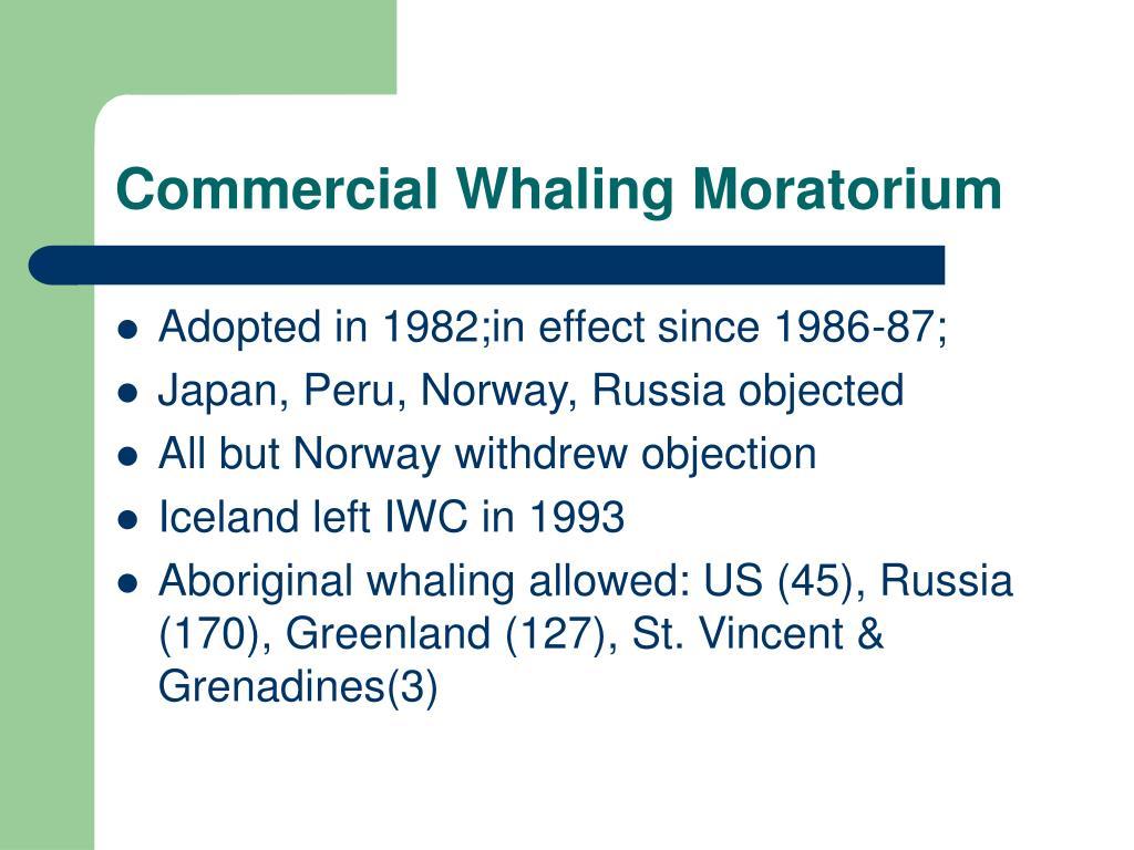 Commercial Whaling Moratorium