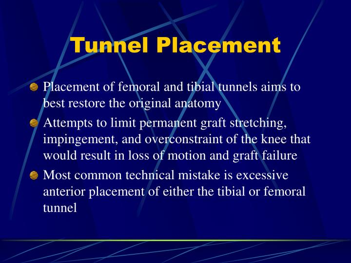 Tunnel Placement