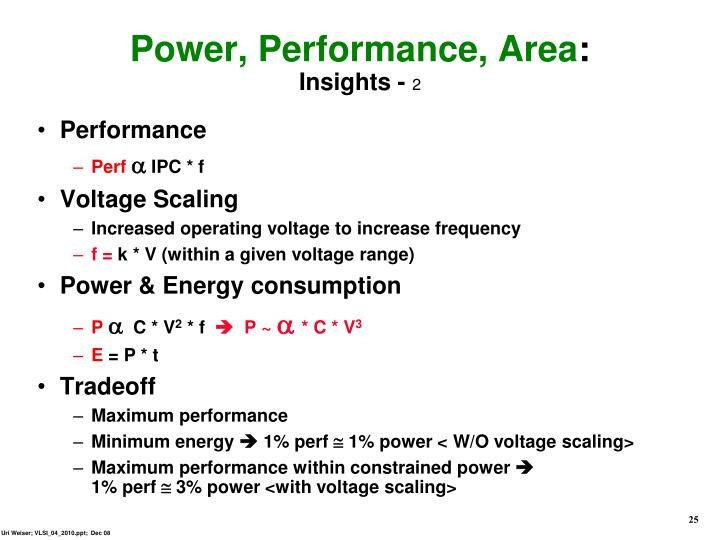 Power, Performance, Area