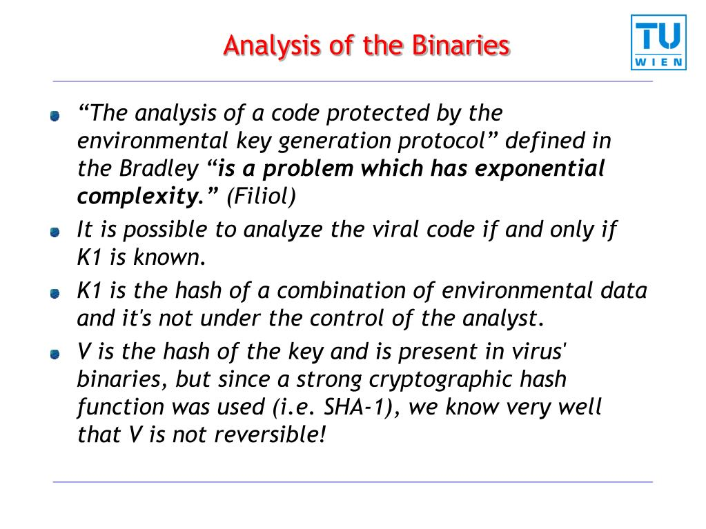 Analysis of the Binaries