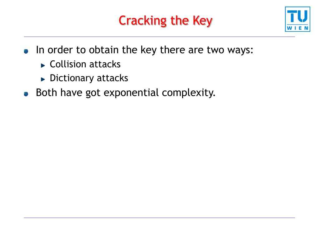 Cracking the Key