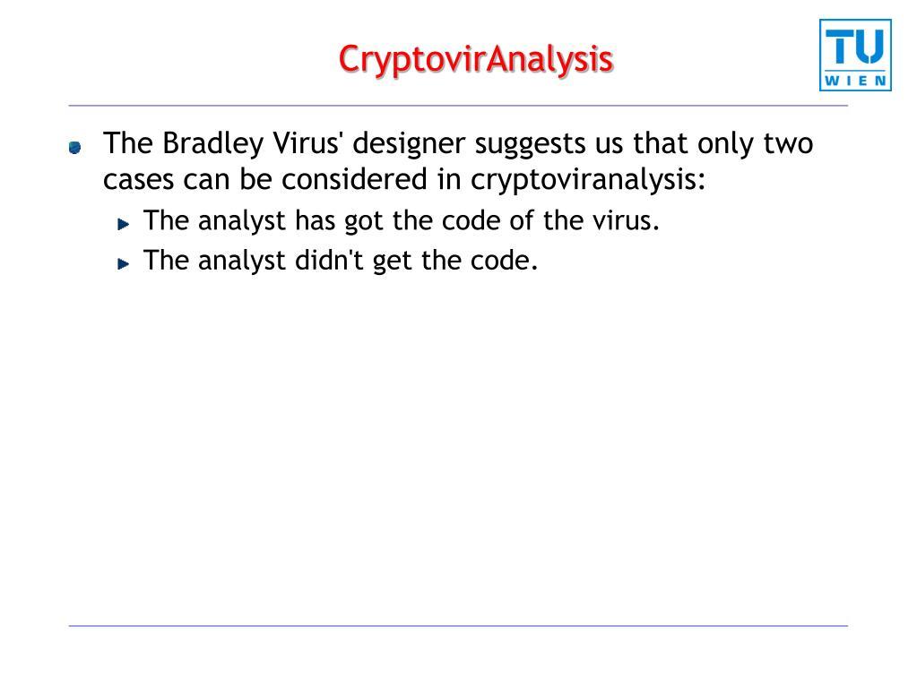 CryptovirAnalysis