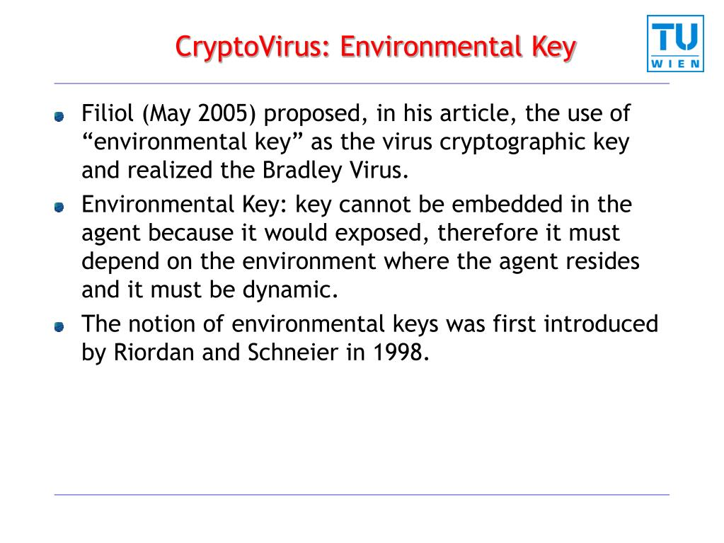 CryptoVirus: Environmental Key