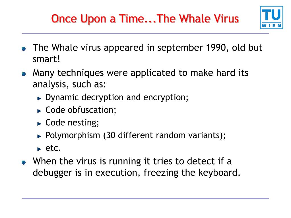Once Upon a Time...The Whale Virus
