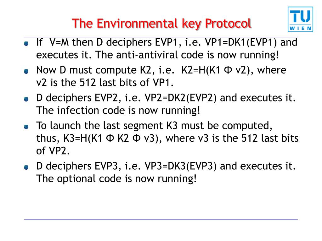 The Environmental key Protocol