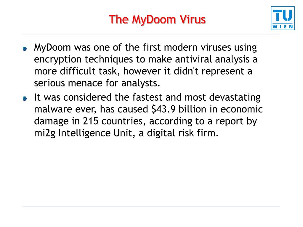 The MyDoom Virus