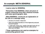an example meta dendral