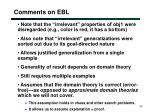 comments on ebl