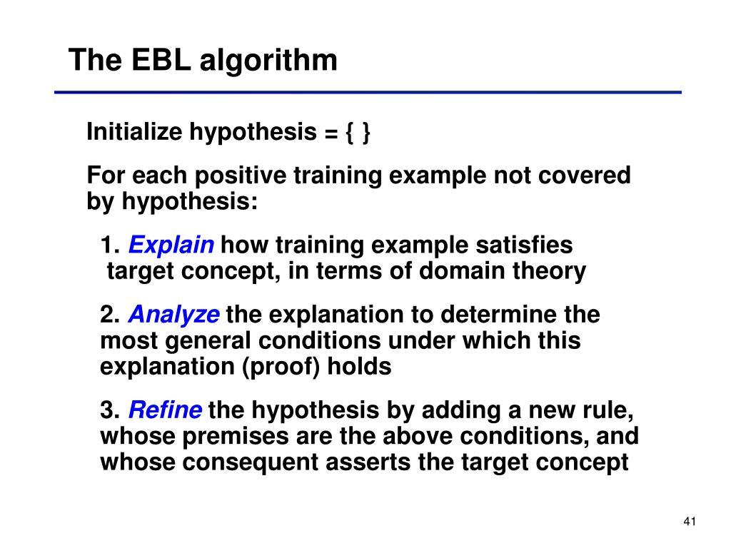 The EBL algorithm