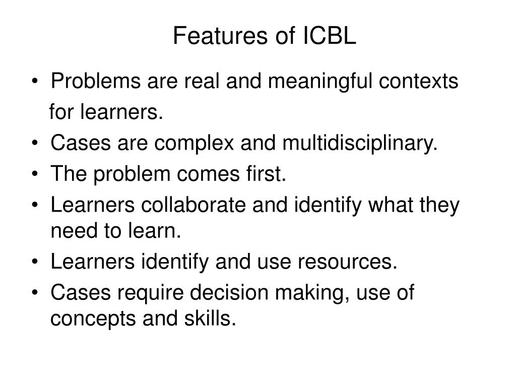 Features of ICBL