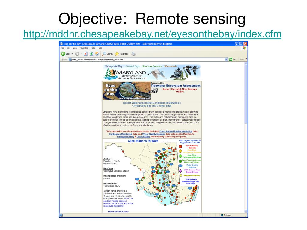 Objective:  Remote sensing