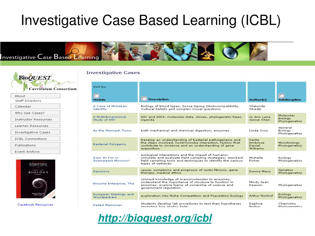 Investigative Case Based Learning (ICBL)