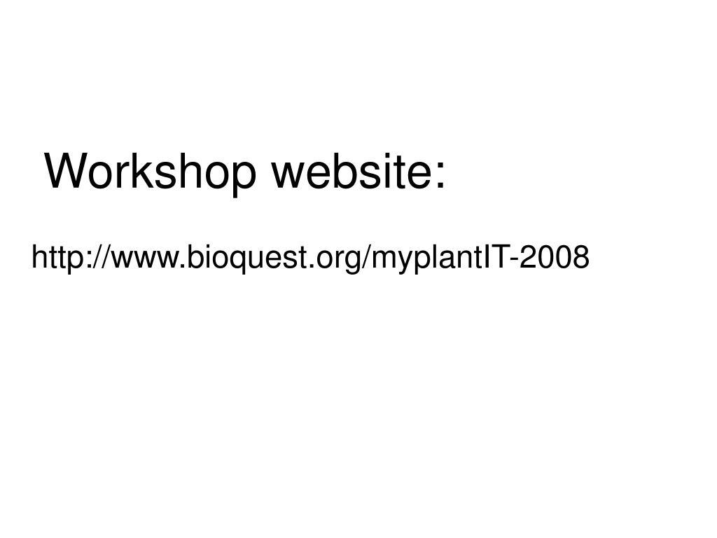 Workshop website: