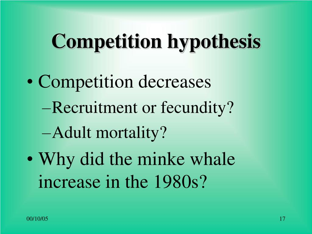 Competition hypothesis
