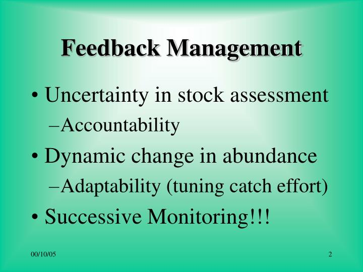 Feedback management