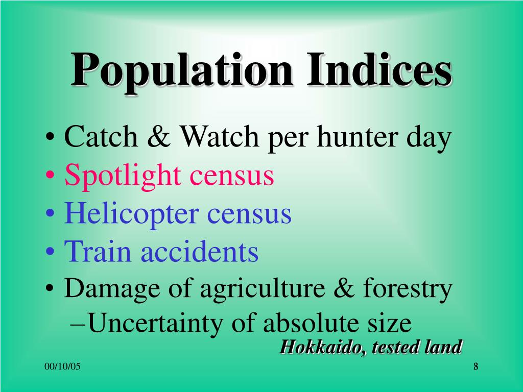 Population Indices