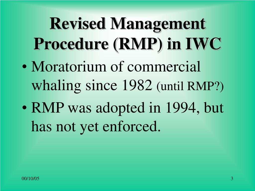 Revised Management Procedure (RMP) in IWC